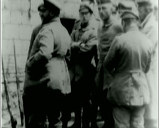 WW1 - US Troops - Waiting For Battle 01 Stock Footage