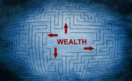 Stock Illustration of wealth maze concept