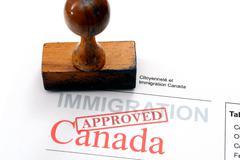 Immigration canada Stock Photos