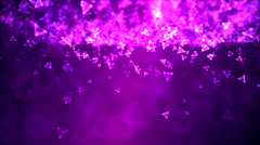 Abstract Triangle Background Animation - Loop Purple Stock Footage