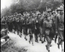 WW1 - US Boot Camp - Soldiers Training 01 Stock Footage