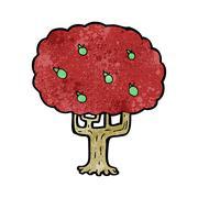Stock Illustration of cartoon apple tree