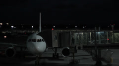 People coming out from airplane Stock Footage