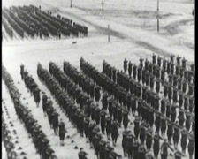 WW1 - US Boot Camp - Soldiers Training 02 Stock Footage