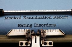eating disorder - stock photo