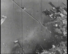 WW1 - US Boot Camp - Aircrafts over city 02 01 Stock Footage