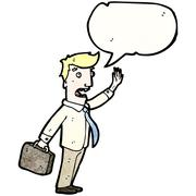 Stock Illustration of cartoon businessman calling out