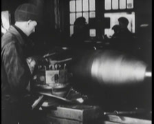 WW1 - US Weapon Factory 04 - Grenades 01 Stock Footage