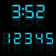 Stock Illustration of blue clock digits vector illustration