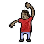 Cartoon judo chop Stock Illustration