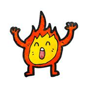 Stock Illustration of cartoon flame