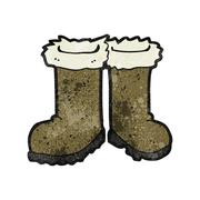 Stock Illustration of cartoon winter boots