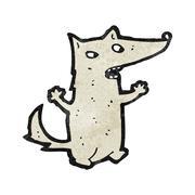 Stock Illustration of cartoon wolf
