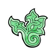 Stock Illustration of cartoon floral leaf decorative element
