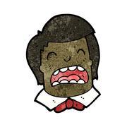 Stock Illustration of cartoon crying boys face