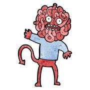 Cartoon gross monster Stock Illustration
