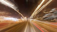 Driving at night in Hong Kong time lapse Stock Footage