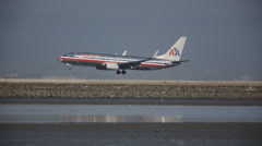 Plane Landing Stock Footage