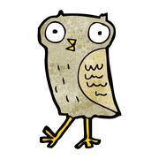 Stock Illustration of funny little owl cartoon