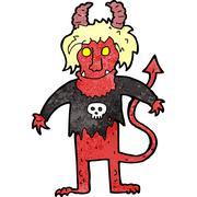 Stock Illustration of cartoon rock devil