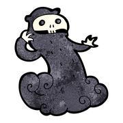 cartoon spooky halloween ghoul - stock illustration