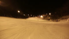 Skiing POV Glide Cam 2 Stock Footage