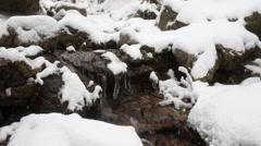 Snowy Korean Mountains 14 - stock footage