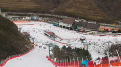 Seoul Ski Resorts 5 Stock Footage