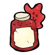 Stock Illustration of cartoon broken jam jar