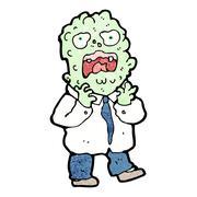cartoon mutant monster man - stock illustration
