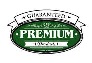 Stock Illustration of premium guaranteed products label