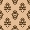 Stock Illustration of beige and brown seamless pattern