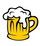 Cartoon tankard of frothy beer Stock Illustration
