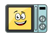 Stock Illustration of cute cartoon microwave oven