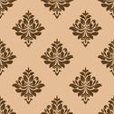 Stock Illustration of vintage wallpaper design of floral arabesques