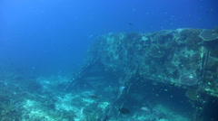 Bounty Wreck, Gili Islands, Lombok Stock Footage
