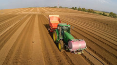 Tractor working the land Stock Footage