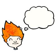 Stock Illustration of ginger haired boy cartoon