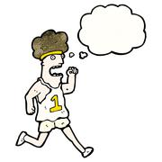 Cartoon runner Stock Illustration