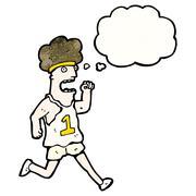 cartoon runner - stock illustration
