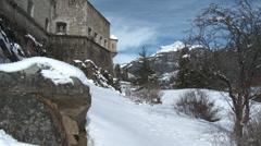 Colmar Les Alpes Fort de Savoie Side of Fort Stock Footage