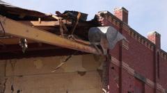 Demolition old building Stock Footage