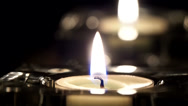 Stock Video Footage of Candle flame moved by breath
