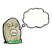 Stock Illustration of cartoon gravestone