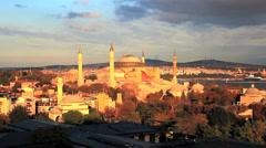 Hagia sophia in istanbul, turkey Stock Footage