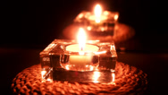 Stock Video Footage of Candle in glass container