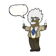 Stock Illustration of cartoon genius scientist