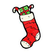 Stock Illustration of cartoon christmas stocking