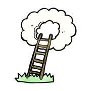 Stock Illustration of stairway to heaven cartoon