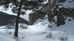 Colmar Les Alpes Fort de Savoie Still of Side Stock Footage